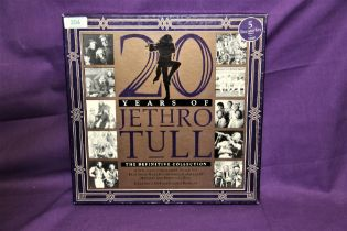 A five album Jethro Tull set in box - some wear to box but nothing serious - vinyl is EX