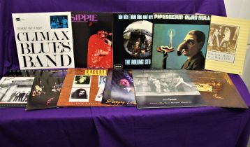 A lot of eleven of Rock and Blues albums in VG+ - some better - some nice titles in this lot