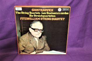 A Shostakovich seven album box set on Decca records - hard to find recordings and in VG+ condition