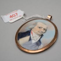 A Victorian miniature portrait study of a Napoleonic gentleman very finely executed brush work