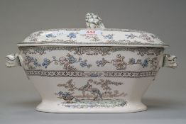 Two lidded soup or serving tureen one marked Copeland Spode rd no.615911 possibly in the Eden