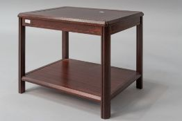 A stained frame rosewood effect occasional/coffee table having undertier, dimensions approx. 57 x