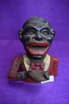 A late Victorian genuine cast iron character money box