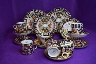 A part coffee service and similar by Royal Crown Derby in a traditional Imari design