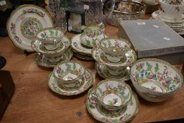 A part tea service in an Indian tree design by Hammersley