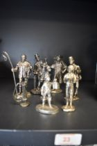A selection of metal cast historical figures