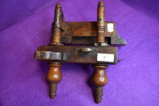 An antique wood workers or cabinet makers beech wood rebate plane bearing names Youngmans, Malloch