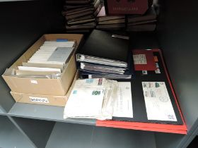 A collection of British TPO (Train Post Office) Covers in albums and large box, box has been