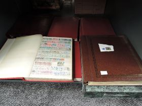 A collection of World Stamps and Covers in eight albums and a box file, mint and used