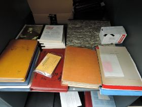 A collection of various TPO (Train Post Office) items including books & booklets, envolope of
