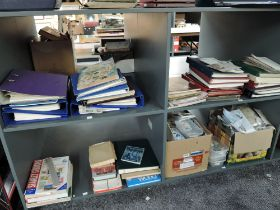 A large collection on four shelves of GB & World Stamps, loose & in albums, mainly used, along