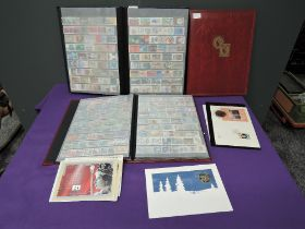 Three stock books of World Stamps, mainly used, mainly modern