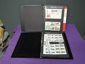 An album of World Railway Covers and an album Railway Stamps