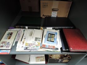 A shelf of GB and World Stamps and Covers, mint and used, in albums and loose