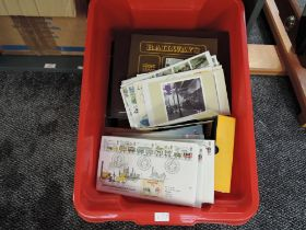A collection of GB & World stamps including an album of Railway Stamps & Covers