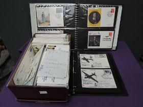 A box and two albums of commemorative Covers and First Day Covers including box of BFPO and