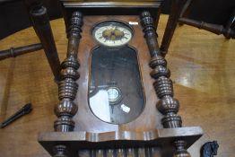 A 19th Century mahogany cased Vienna style wall clock