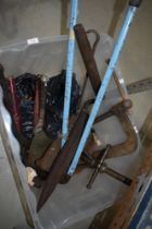 A selection of heavy duty tools etc including vintage