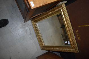 A vintage gilt plaster frame mirror, approx. 55 x 65cm