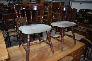 Two pub tavern styled dining chairs