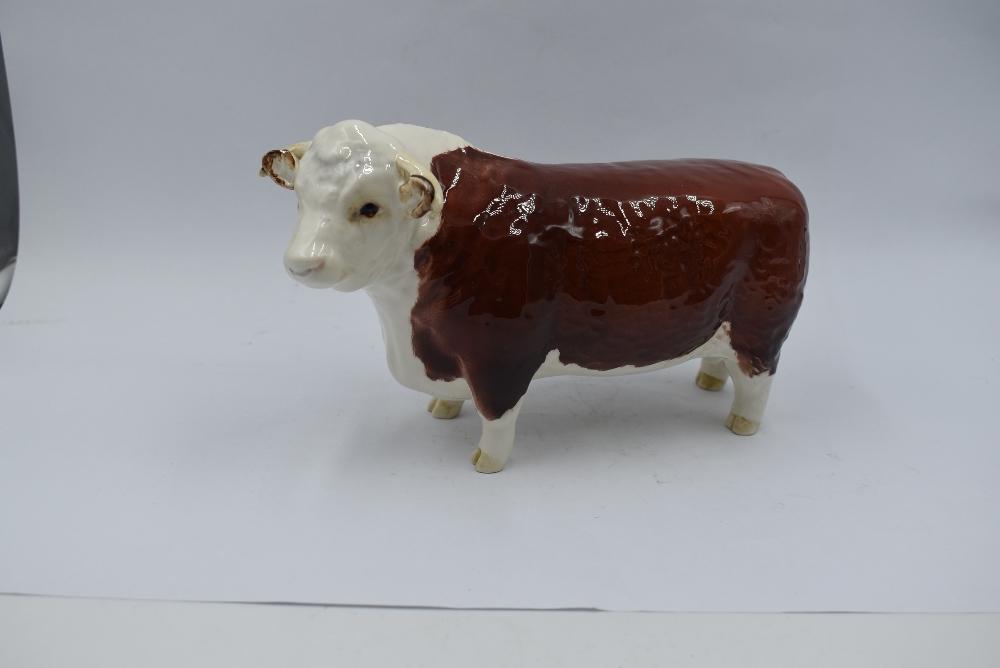A Beswick study, Hereford Bull 1363A