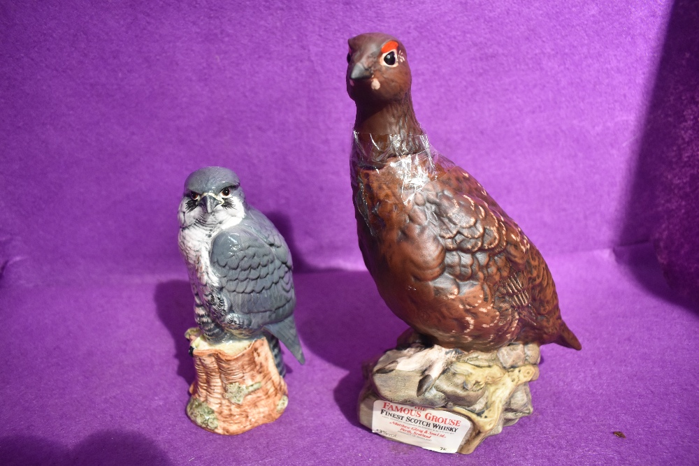 Two Royal Doulton decanters, Famous Grouse 'Matthew Gloag' and a Peregrine falcon for Beneagles (