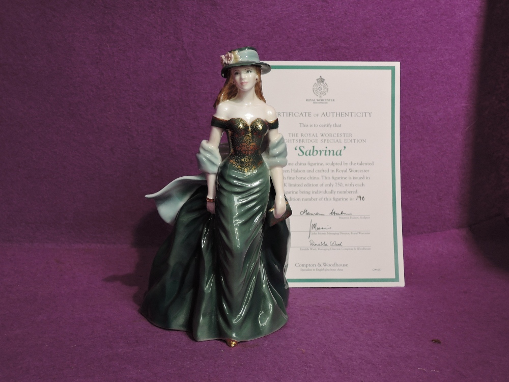 A Royal Worcester limited edition Compton & Woodhouse Figurine, Sabrina 190/750 with certificate