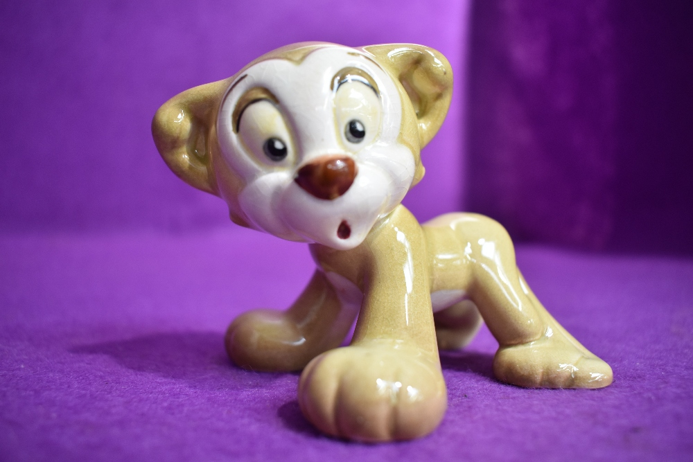 A Beswick figure study by David Hands from the Animaland series Zimmy Lion having gold back stamp