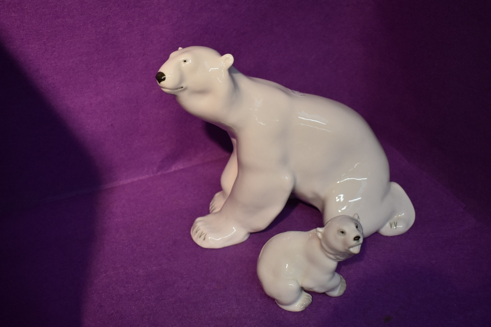 Two USSR Lomonosov studies, Polar Bear and Polar Bear Cub