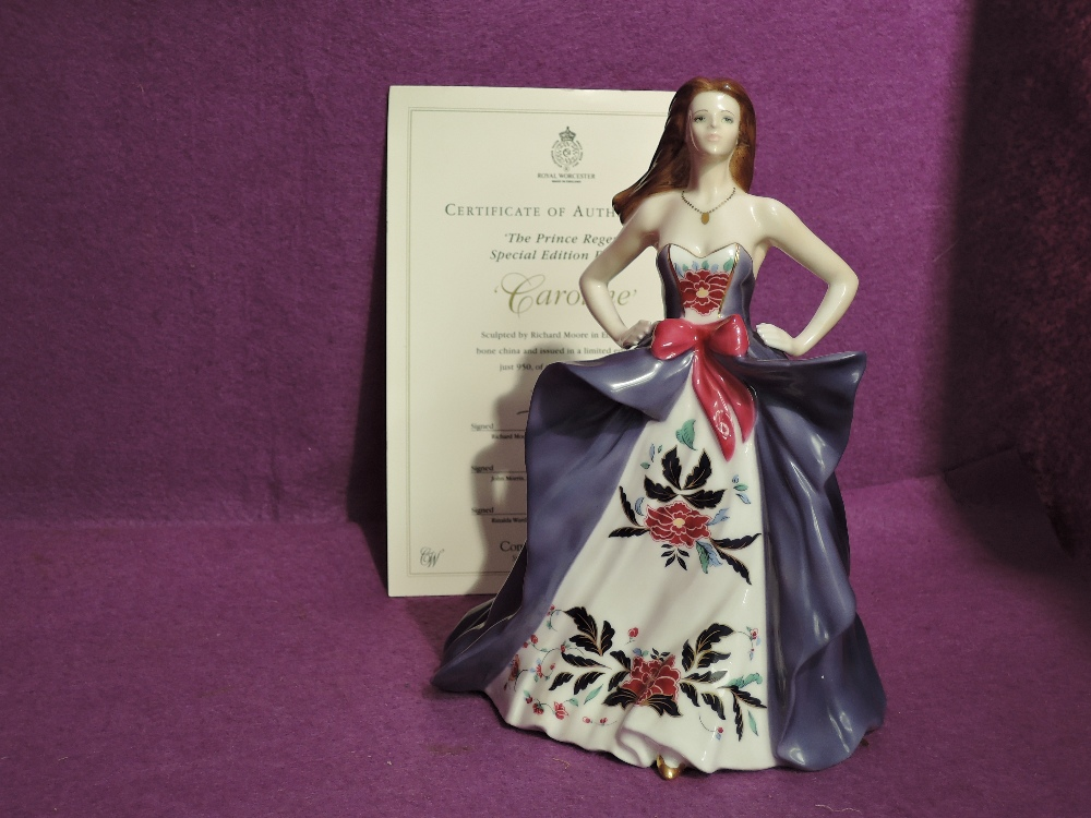 A Royal Worcester limited edition Compton & Woodhouse Figurine, Caroline 352/950 with certificate