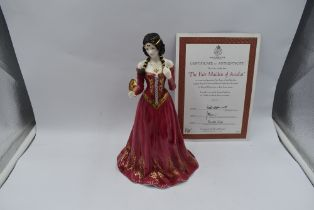 A Royal Worcester Compton & Woodhouse limited edition Figurine, The Fair Maiden Of Astolat 527/