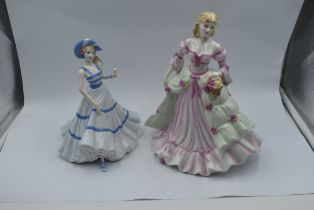 Two Coalport Figurines, Classic Elegance A Special Gift and Sentiments Special Celebration