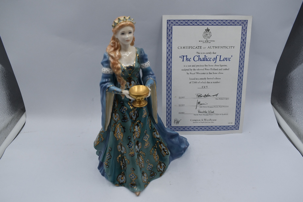 A Royal Worcester Compton & Woodhouse limited edition Figurine, The Chalice Of Love 527/7500 with