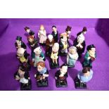Nineteen Royal Doulton miniature figure studies from the Charles Dickens series including