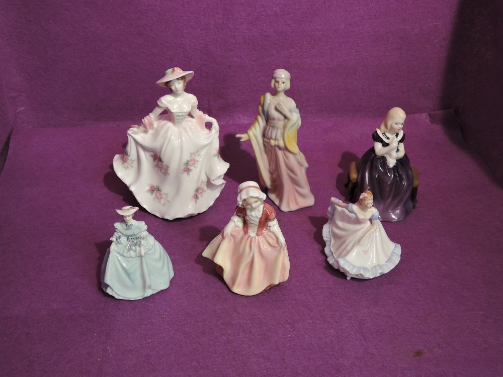 A Royal Worcester Compton & Woodhouse limited edition figurine, Sweet Rose 5505/9500 along with