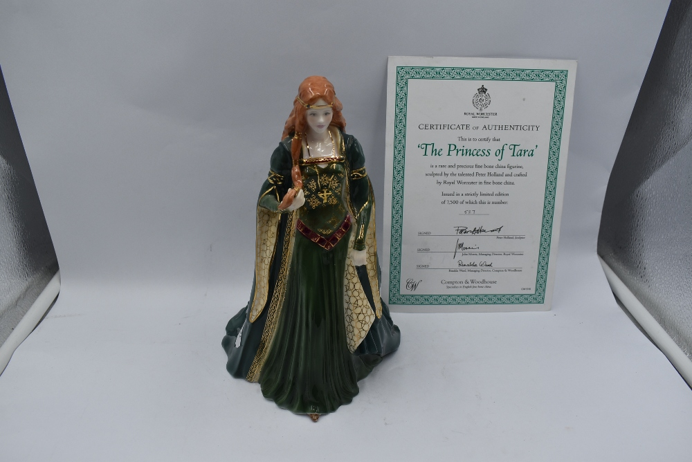 A Royal Worcester Compton & Woodhouse limited edition Figurine, The Princess Of Tara 527/7500 with