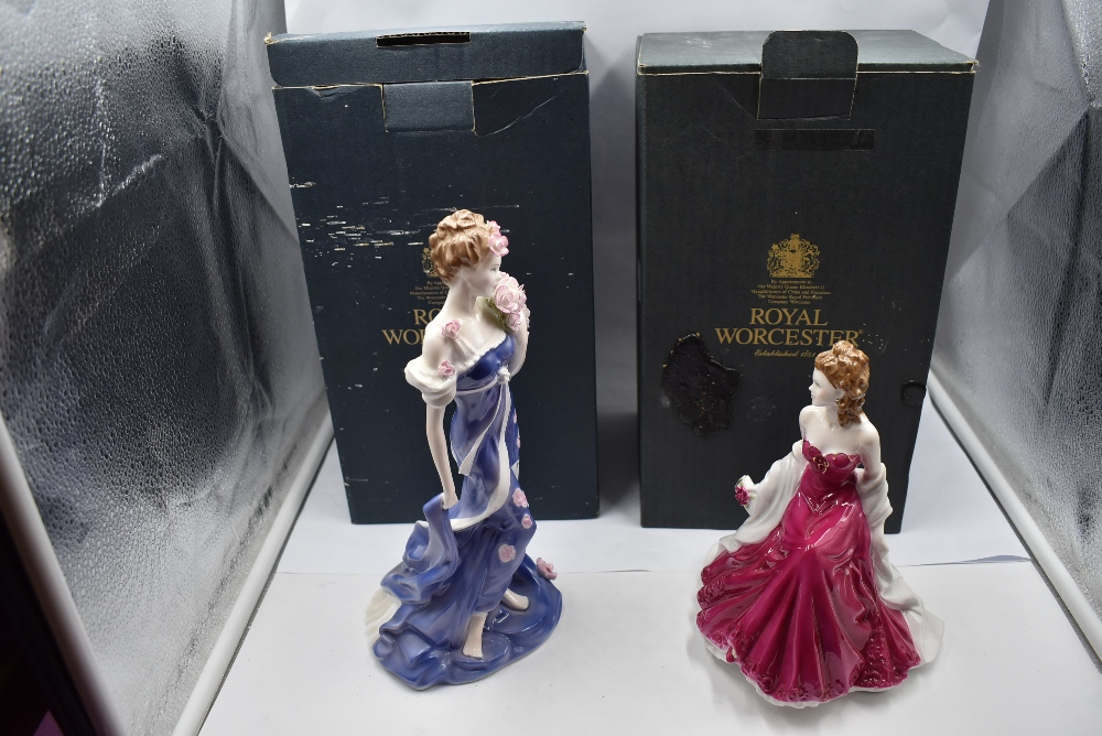 Two Royal Worcester Figurine, Spirit Of Summer, limited edition 302/9500 and Golden Moments Ruby