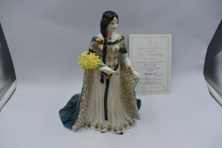 A Royal Worcester Compton & Woodhouse limited edition Figurine, The Daughter Of Erin 527/7500 with