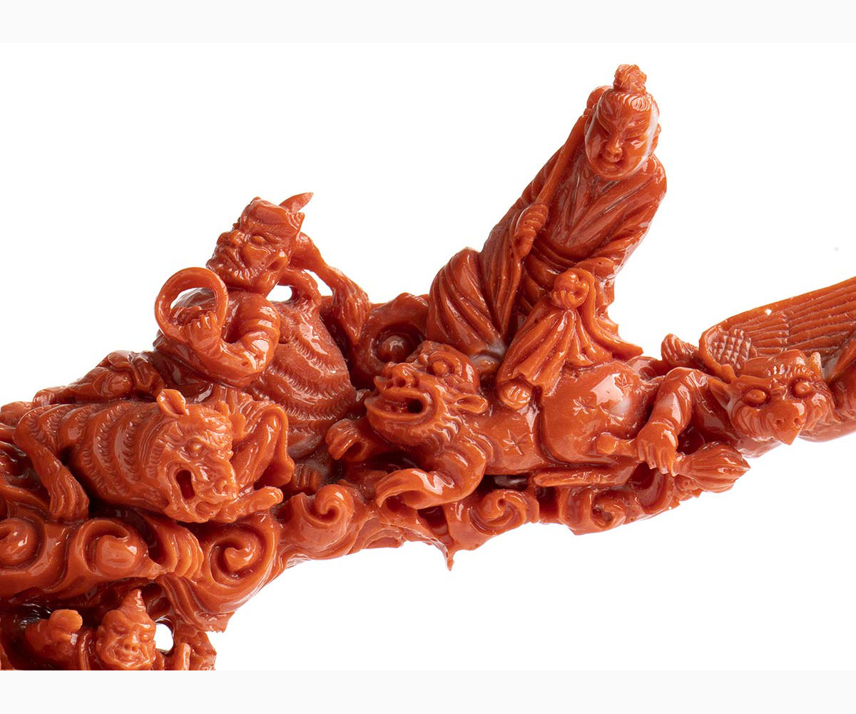 A Cerasuolo coral carving - China, early 20th Century - Image 4 of 6