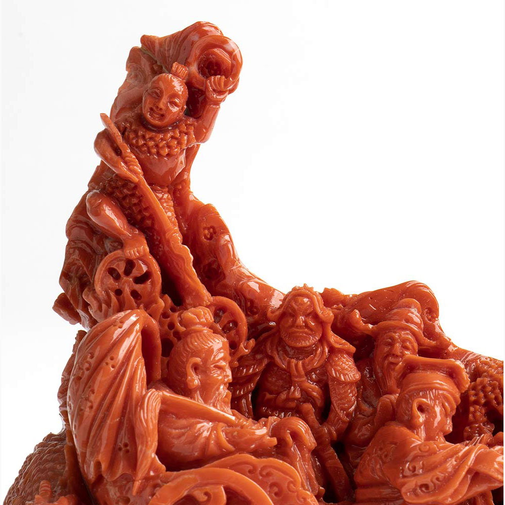 A Cerasuolo coral carving - China, early 20th Century - Image 3 of 6