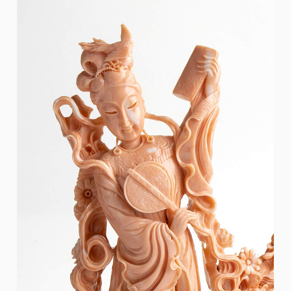 A Bokè coral carving - China, early 20th Century - Image 4 of 6