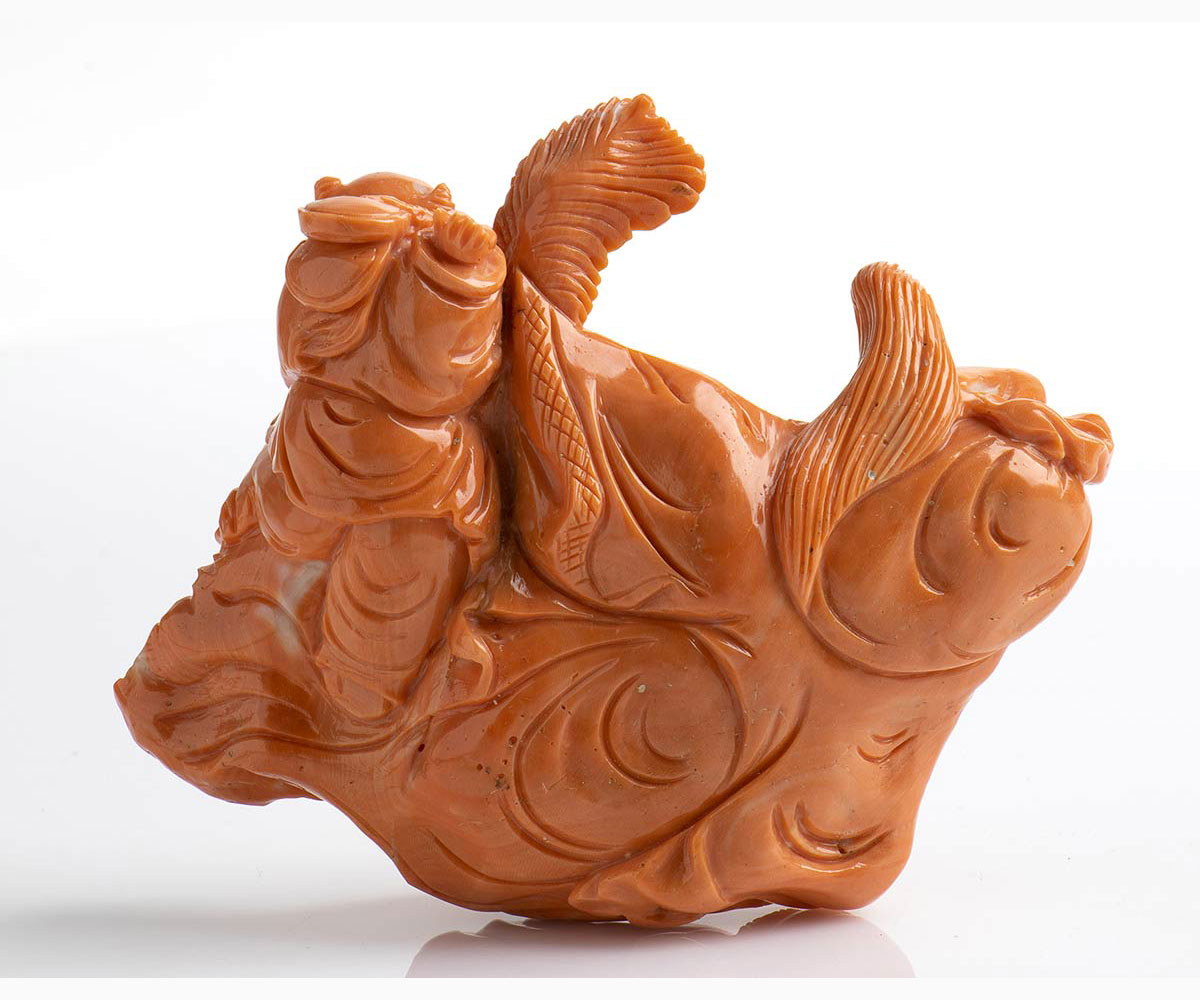 A Cerasuolo coral carving - China, 20th Century - Image 3 of 3