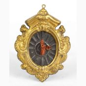 An italian Mediterranean coral carving with metal frame - Naples, 18th Century