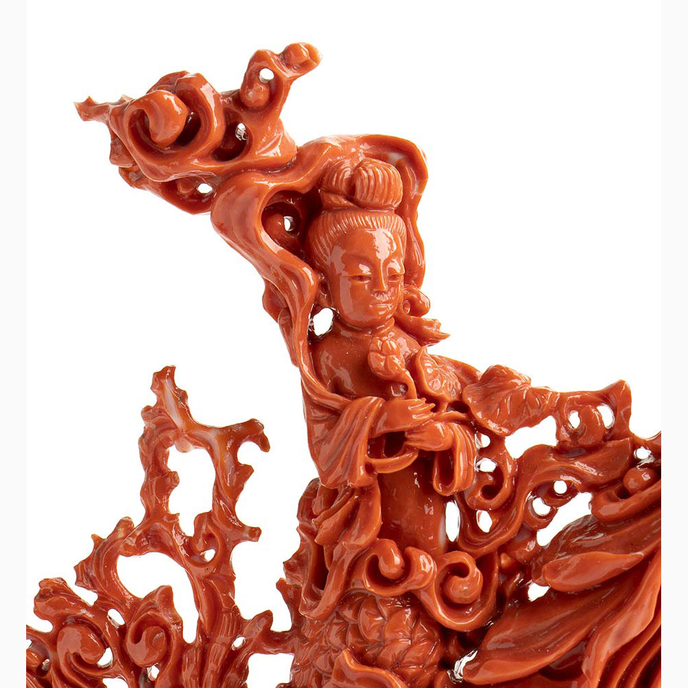 A Cerasuolo coral carving - China, early 20th Century - Image 3 of 5