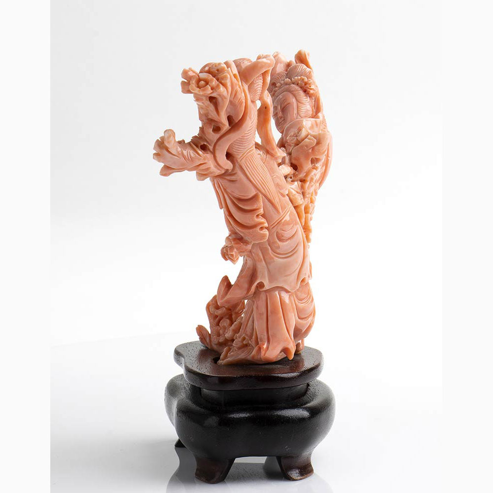 A Cerasuolo coral carving - China, early 20th Century - Image 4 of 7