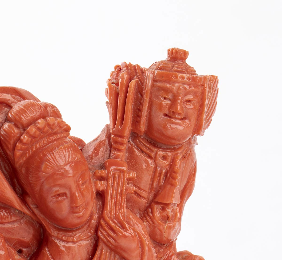 A Cerasuolo coral carving - China, early 20th Century - Image 3 of 7