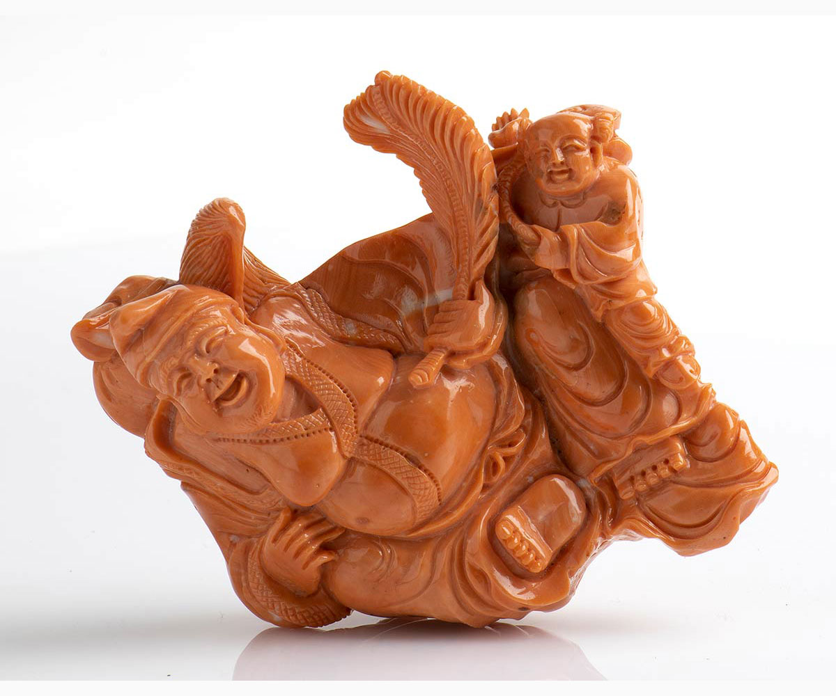 A Cerasuolo coral carving - China, 20th Century - Image 2 of 3