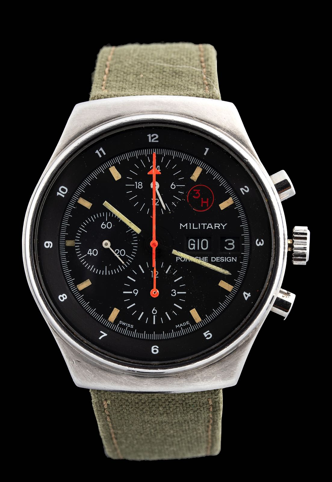 Porsche Design by Orfina Military assigned chronograph ref 7177 1980's