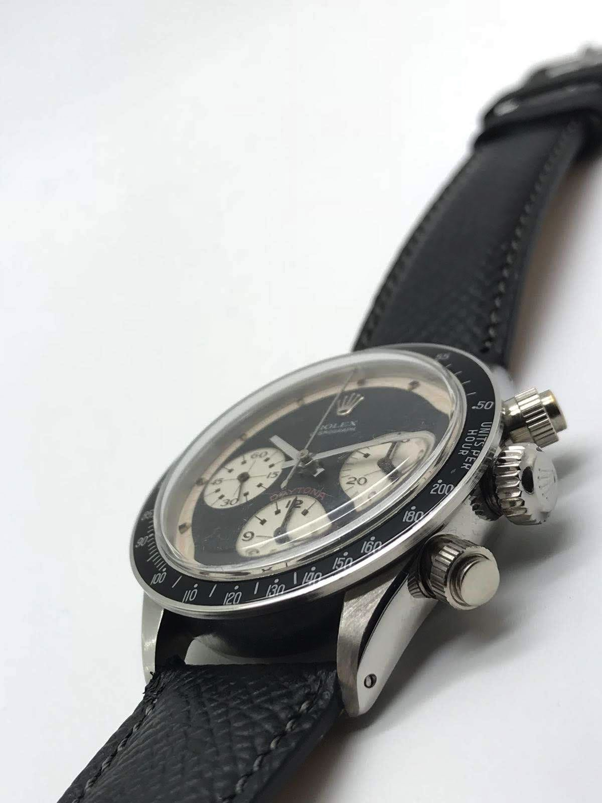 "Rolex Daytona ""Paul Newman"" 6240 wide t swiss t Three color black dial circa 1969 - Image 4 of 8"