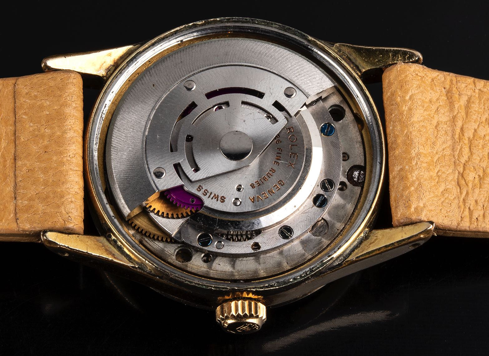 Rolex Explorer guilloche dial ref 5506 Gold filled '1950 - Image 2 of 4
